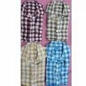 Mens Check Cotton Slub Shirt