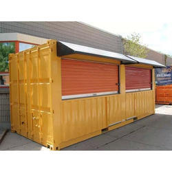 Shipping Container Rolling Shutter Shop