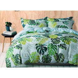 Floral Brocade Cotton Printed Bed Cover