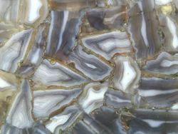 Indian Grey Agate Slab