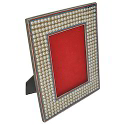 Wooden Frame With Pearl Work
