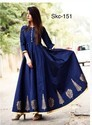 Ladies Blue Gown Dress