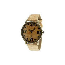 Cream Wooden Watch