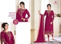 Women Semi-Stitched Georgette Embroidered Suit