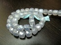 Blue Chalcedony Box Shape Beads