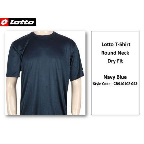 8f182ea38de Polyester Navy Blue Round Neck Lotto T Shirt