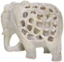 Soapstone Elephant Animal Statue
