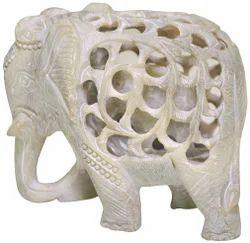 Soapstone Elephant Animal Statue