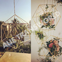 Designer Wedding Centerpiece Hanging Himmeli Sculpture Terrarium