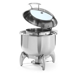 Stainless Steel Round Chafing Soup Pot, for Kitchen