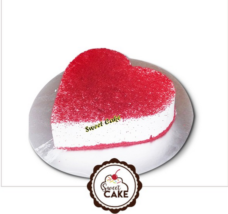 Red Valvet Heart Shape Cake