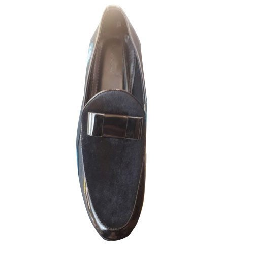 black designer loafers