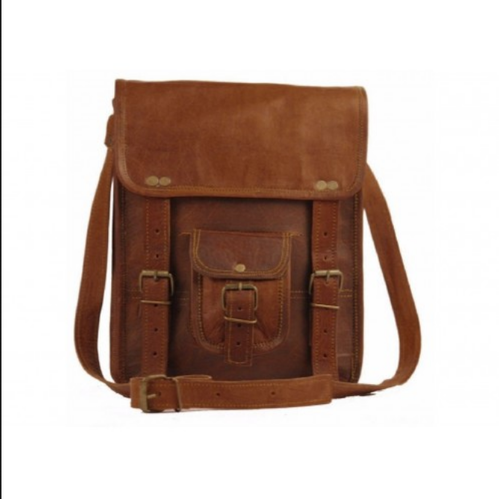 Leather Simple Md 13 Inch Laptop Satchel Messenger Bag