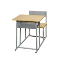 Furniture Craft Wood and Stainless Steel Wooden Two Seater Classroom Furniture