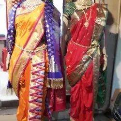 Nauvari Saree In Pune न व र स ड प ण Maharashtra Nauvari Saree Kasta Saree Price In Pune