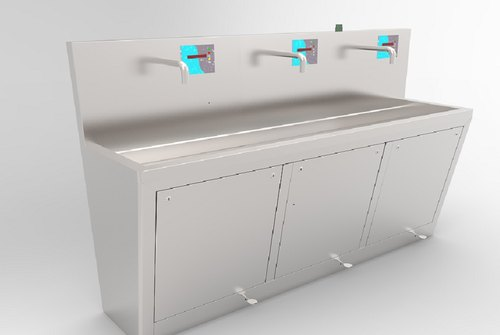 3 Bay Stainless Steel Scrub Sink