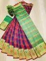 Cotton Silk Chex Weaving Saree