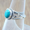 LIGHT WEIGHT 925 STERLING SILVER JEWELRY TURQUOISE GEMSTONE RING WR-5038