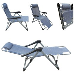 Living Room Reclining Recliner Push Back Easy Relax Portable Outdoor Indoor Sea Beach Chair