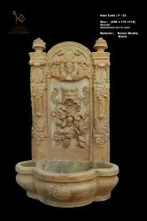 Brown Marble Antique Fountain