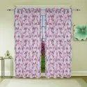 Parda Online Floral Linen Door Curtain, Size: 7x4 Feet