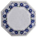 White  Marble Inlay Table Top, Pietra Dura Table Top