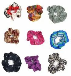 Hair Rope Vintage Silk Scrunchies Bow Knot Elastic HB2