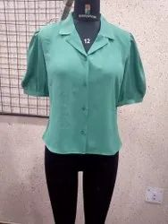 Ladies Collared Button Shirt