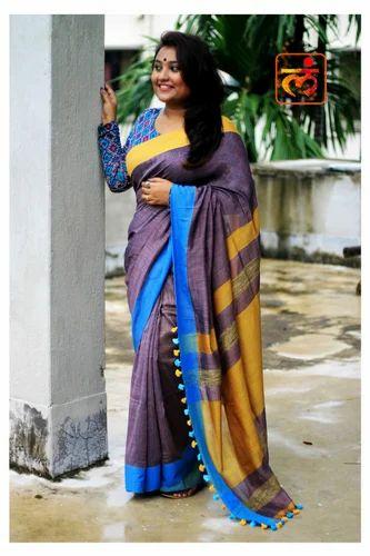1eb48a5193 Bengal Handloom Khadi Cotton Sarees, Hand Woven Sarees ...