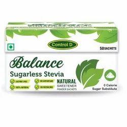 Control D Balance Stevia Meethi Tulsi Powder for Pharma, Packaging Type: Box