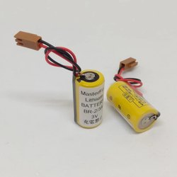 Panasonic Battery BR-2/3A 3V 1200mAh with Brown Connector For FANUC