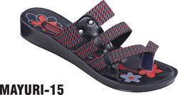 poddar Multicolor ladies slipper, Size: 4*8