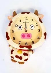 Wonderland Imported Kids Wall Clocks with Moving Pendulum for Home