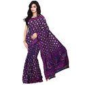 Purple Bandhej Saree