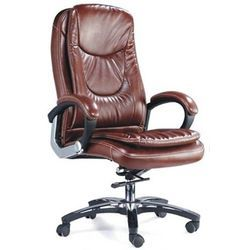 Brown Leatherette Quantum High Back Executive Chair