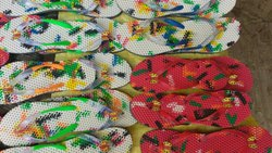 Rabbar equpressure Daily wear Printed Slipper, Size: 4-9
