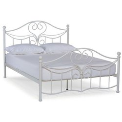 Stainless Steel Silver Modern SS Double Bed, Size: 6 X 6 Feet
