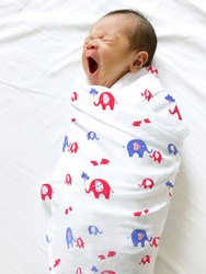 Multicolor Printed Organic Baby Swaddle