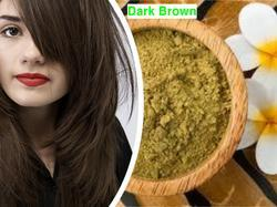 Halal Certified Natural Hair Dye Dark Brown Henna