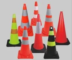 Red Plastic Traffic Safety Cones, 500 - 1000 Gram