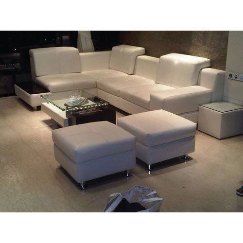 White L Shape Sofa