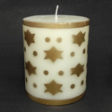 Golden Print Design Candle