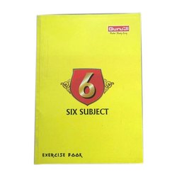 Guruji Perfect Bound Six Subject Exercise School Notebook, Size: A4