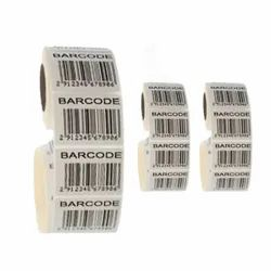 Plain White Barcode Stickers, Packaging Type: Roll