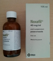 Syrup Noxafil Posaconazole 40 Mg, Non prescription, Packaging Size: Per Bottle 105ml