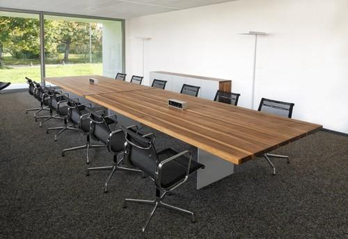 Square And Round Brown And Red Conference Room Table Warranty - Square conference room table
