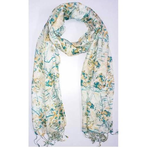 6cf55eb97921c Multicolor Printed Ladies Silk Shawl, Rs 250 /piece, Isha ...