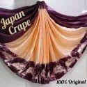 Pure Japan Crepe Silk Saree