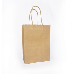 Plain Handled Brown Paper Bag, Capacity: 2kg