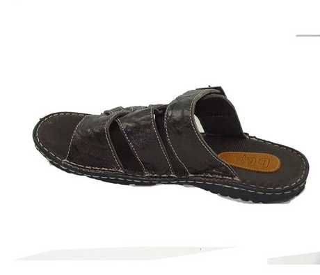 b77c4b0f6d41 Brown Lee Cooper Men  s Leather Flip Flops Thong Sandals